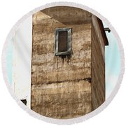 Round Beach Towel featuring the photograph Kingscote Dungeon by Stephen Mitchell
