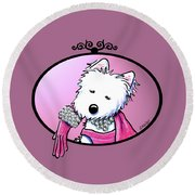 Kiniart Westie Glam Round Beach Towel