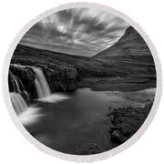 Kirkufellsfoss  Round Beach Towel