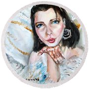 Kiss Of An Angel Round Beach Towel by Shana Rowe Jackson