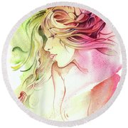 Kiss Of Wind Round Beach Towel