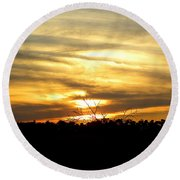 Round Beach Towel featuring the photograph Kissimmee Prairie 004  by Chris Mercer