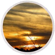 Round Beach Towel featuring the photograph Kissimmee Prairie 005 by Chris Mercer