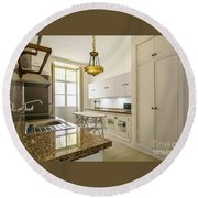 Round Beach Towel featuring the photograph Kitchen Apartment In The Heart Of Cadiz by Pablo Avanzini