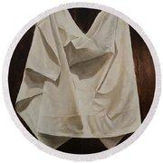 Painting Alla Rembrandt - Minimalist Still Life Study Round Beach Towel