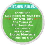 Kitchen Rules Round Beach Towel