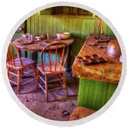Kitchen Table Bodie California Round Beach Towel