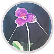 Kite Orchid Round Beach Towel