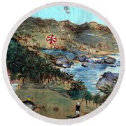 Kites At Bathsheba Round Beach Towel
