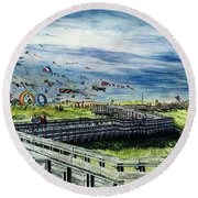 Kites Galore Round Beach Towel