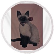 Kitty Cat Round Beach Towel