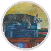 Kitty Comfort Round Beach Towel