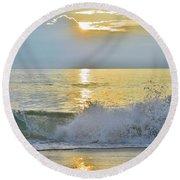 Kitty Hawk Sunrise 8/20 Round Beach Towel