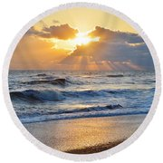 Kitty Hawk Sunrise Round Beach Towel