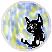 Kitty Kitty Round Beach Towel