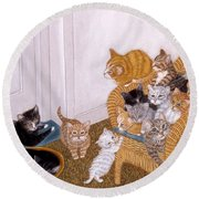 Kitty Litter II Round Beach Towel