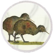Kiwi Birds Round Beach Towel
