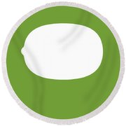 Kiwi Food Art Minimalist Fruit Poster Series 020 Round Beach Towel