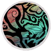 Kiwi Nature Round Beach Towel