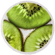 Kiwi Round Beach Towel by Shirley Mangini