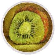 Kiwifruit Round Beach Towel