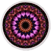 Klassy Kaleidoscope Round Beach Towel by Lyle Hatch