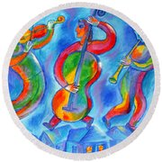Klezmer On The Roof Round Beach Towel