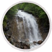 Klondike Waterfall Round Beach Towel