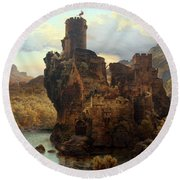 Knights Castle Round Beach Towel