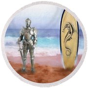 Knights Landing Round Beach Towel by Michael Cleere