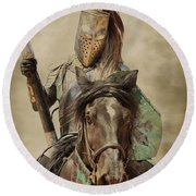 Round Beach Towel featuring the photograph Knights Tale by Steve McKinzie