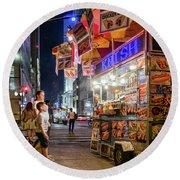Knish, New York City  -17831-17832-sq Round Beach Towel