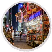 Round Beach Towel featuring the photograph Knish, New York City  -17831-17832-sq by John Bald