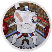 Knocked Out Tooth Round Beach Towel