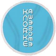 Knorke Dessau Round Beach Towel