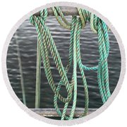 Round Beach Towel featuring the photograph Knot Of My Warf II by Stephen Mitchell