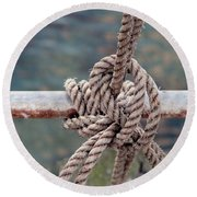 Round Beach Towel featuring the photograph Knot Of My Warf by Stephen Mitchell