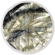 Round Beach Towel featuring the painting Knotty by Vicki Ferrari