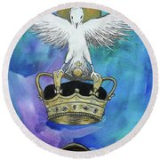 Know Who You Are Round Beach Towel