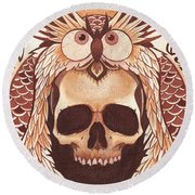 Knowledge Round Beach Towel by Deadcharming Art