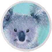 Koala Round Beach Towel by Jan Matson