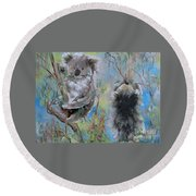 Koalas Round Beach Towel