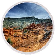 Kodachrome Basin Afternoon Round Beach Towel