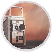 Kodak Brownie 8mm Round Beach Towel