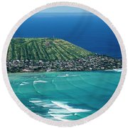 Koko Head Surf Round Beach Towel