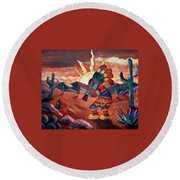 Kokopelli A Round Beach Towel