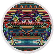Kokopelli Art Round Beach Towel