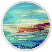 Round Beach Towel featuring the painting Kokovoko by Tatiana Iliina