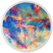 Kolorful Koi Series Round Beach Towel