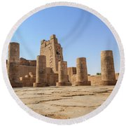 Round Beach Towel featuring the photograph Kom Ombo by Silvia Bruno